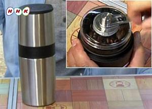 コーヒー豆からひけるマグカップ