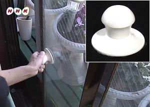 窓の開け閉めが楽になる吸盤式取っ手 強力吸盤式取手 光