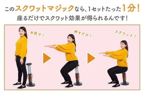 スクワットマジック こんなので痩せるわけがない 横澤夏子