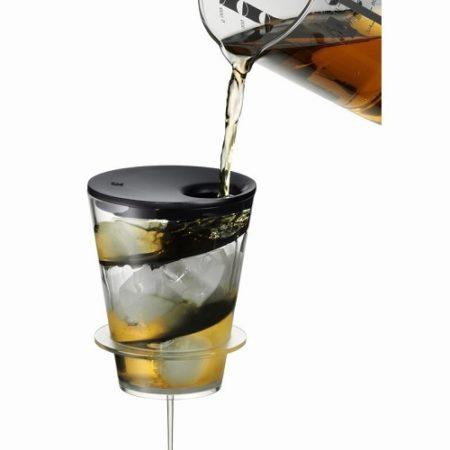 らせん状に氷を入れて飲み物を冷やす器具 アイスティータイム ターボクーラー