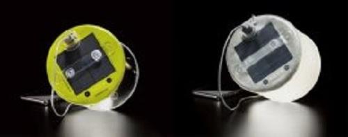 空気で膨らむソーラーライト「エムパワード」USB充電可能